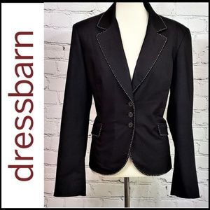 DRESS BARN Black Blazer w/Exposed Stitching, 16